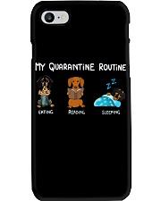 My Quarantine Routine dachshund4 Phone Case thumbnail