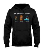 My Quarantine Routine dachshund4 Hooded Sweatshirt thumbnail
