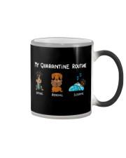 My Quarantine Routine dachshund4 Color Changing Mug thumbnail