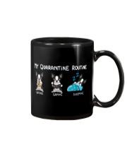 My Quarantine Routine boston Mug thumbnail