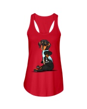 Dachshund Love Mom Ladies Flowy Tank tile