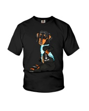 Dachshund Love Mom Youth T-Shirt tile