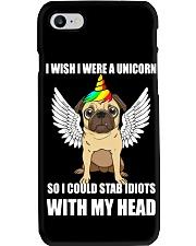 I Wish I Were A Unicorn So I Could Stab Pug Phone Case thumbnail
