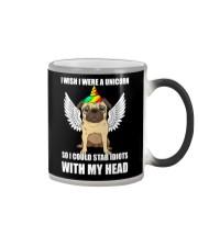 I Wish I Were A Unicorn So I Could Stab Pug Color Changing Mug thumbnail