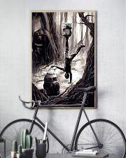 baby yoda training luke 11x17 Poster lifestyle-poster-7
