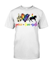 horse and girl 2 Classic T-Shirt front