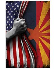 Arizona State Inside American Flag Poster Memorial Day Home Wall Decor 11x17 Poster front