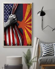 Arizona State Inside American Flag Poster Memorial Day Home Wall Decor 11x17 Poster lifestyle-poster-1