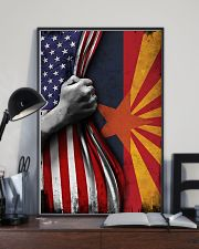 Arizona State Inside American Flag Poster Memorial Day Home Wall Decor 11x17 Poster lifestyle-poster-2