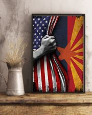 Arizona State Inside American Flag Poster Memorial Day Home Wall Decor 11x17 Poster lifestyle-poster-3