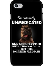 Im Curently Unmedicated And Unsuper Vised pitbull Phone Case thumbnail