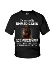 Im Curently Unmedicated And Unsuper Vised pitbull Youth T-Shirt thumbnail