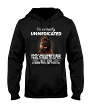 Im Curently Unmedicated And Unsuper Vised pitbull Hooded Sweatshirt thumbnail