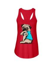 I Love Mom Pug  Ladies Flowy Tank thumbnail
