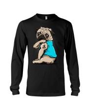 I Love Mom Pug  Long Sleeve Tee thumbnail