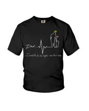 dad i used to be his angle now he is mine Youth T-Shirt thumbnail