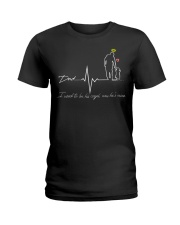 dad i used to be his angle now he is mine Ladies T-Shirt thumbnail