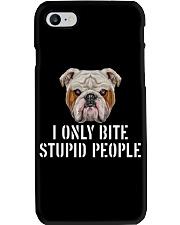 I Only Bite Stupid People bulldog Phone Case thumbnail
