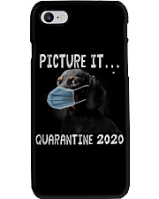 Picture It Quarantine 2020 dachshund Phone Case tile