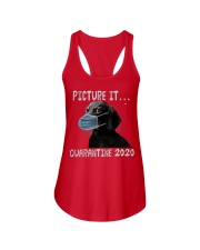 Picture It Quarantine 2020 dachshund Ladies Flowy Tank tile