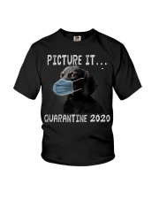 Picture It Quarantine 2020 dachshund Youth T-Shirt thumbnail