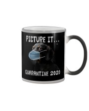 Picture It Quarantine 2020 dachshund Color Changing Mug thumbnail