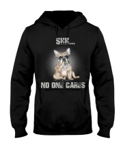 Shh No One Cares French Bulldog Hooded Sweatshirt thumbnail
