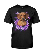 Dachshund T-shirt Christmas gift for friend Classic T-Shirt front