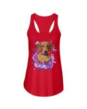 Dachshund T-shirt Christmas gift for friend Ladies Flowy Tank thumbnail