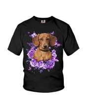 Dachshund T-shirt Christmas gift for friend Youth T-Shirt thumbnail