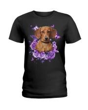Dachshund T-shirt Christmas gift for friend Ladies T-Shirt thumbnail