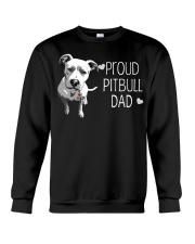 Pitbull Proud Pitbull Dad Crewneck Sweatshirt thumbnail