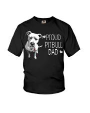 Pitbull Proud Pitbull Dad Youth T-Shirt thumbnail