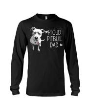 Pitbull Proud Pitbull Dad Long Sleeve Tee thumbnail