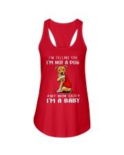 Pitbull Lovemom I'm Telling You I'm Not A Dog Ladies Flowy Tank thumbnail