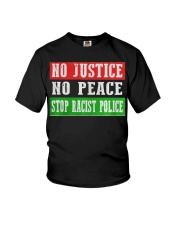 No Justice No Peace Stop Racist Police Youth T-Shirt thumbnail