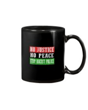 No Justice No Peace Stop Racist Police Mug tile