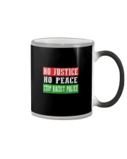No Justice No Peace Stop Racist Police Color Changing Mug thumbnail