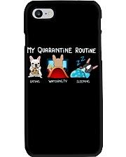 My Quarantine Routine frenchie3 Phone Case thumbnail