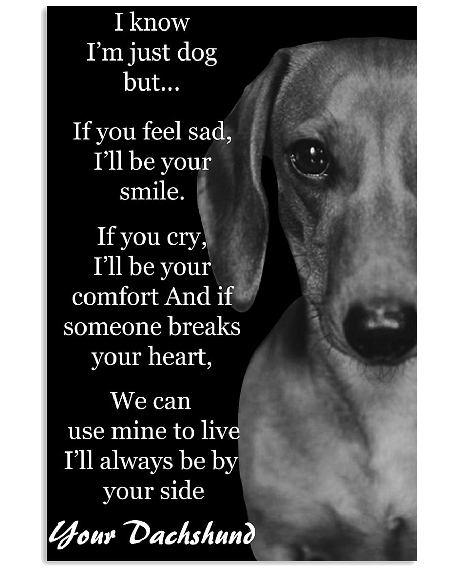 I Know I'm Just Dog But Dachshund Text 3 11x17 Poster