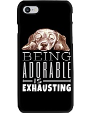 Being Adorable Exhausting Dachshund Phone Case thumbnail