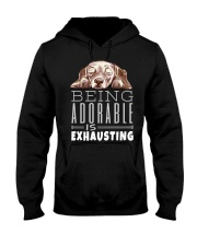 Being Adorable Exhausting Dachshund Hooded Sweatshirt thumbnail