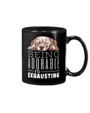 Being Adorable Exhausting Dachshund Mug thumbnail