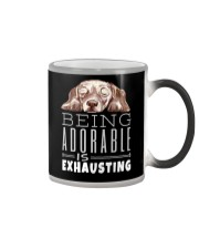 Being Adorable Exhausting Dachshund Color Changing Mug thumbnail