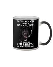 i'm telling you i'm not a schnauzer  Color Changing Mug thumbnail