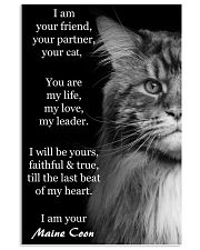 I Am Your Friend You Partner Your Cat 11x17 Poster front