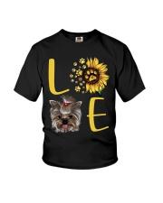 yorkie love Youth T-Shirt thumbnail