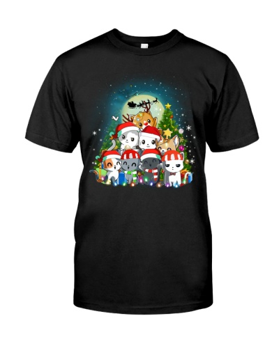 Cats cute T-shirt-Christmas gift for friend