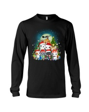 Cats cute T-shirt-Christmas gift for friend Long Sleeve Tee thumbnail