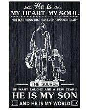 Father son 11x17 Poster front